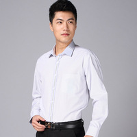 Shirt male shirt long-sleeve business casual 2013 autumn slim easy care stripe men's clothing shirt