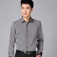 Shirt men's clothing shirt long-sleeve business casual easy care 2013 autumn slim men's clothing shirt stripe shirt