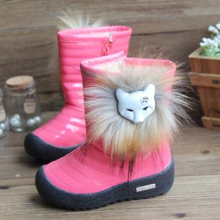 Winter child medium-leg snow boots female boots children boots waterproof boots LK140(China (Mainland))