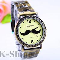 KM893 Retro Beard Mens Watches Steel belt Watches,Fashion Gift Watch,quartz watches,Free Shipping Dropshipping