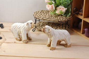 Wood Polar Bear Wood Home Decoration  Polar Bear home Gift wood home accessories Free Shipping