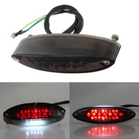 Universal Motorcycle Atv Smoke 28LED Tail Brake Stop Running License Plate Light