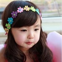 Child accessories flower small 5 multicolour flower girl child headband princess headwear mix 10pcs/lot free shipping