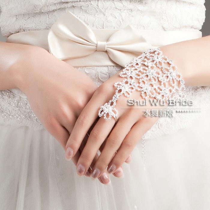 Water bride chain rhinestone bracelet marriage accessories fashion gift box