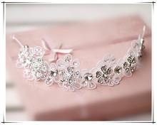 Style lace bride hair accessory marriage wedding rhinestone hair accessory 7871