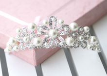 Alloy bead belt hair accessory flower the bride hair accessory wedding marriage accessories 1944