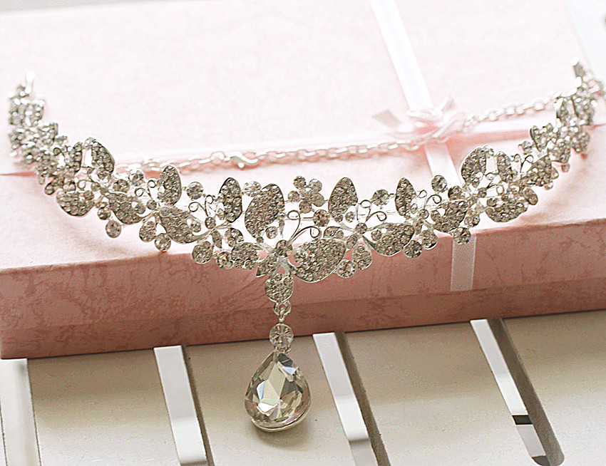 The bride accessories necklace bridal accessories hair accessory marriage wedding alloy necklace 7411