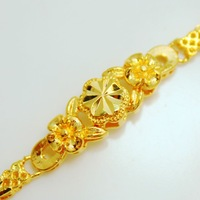 New arrival gold 24k bracelet durable alluvial gold jewelry