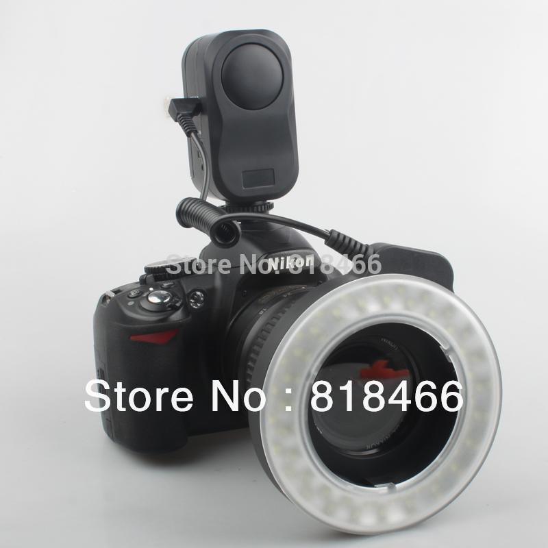[free Shipping] W48 LED Makro Macro Ring Lighting Flash for DSLR for CANON NIKON camera(China (Mainland))