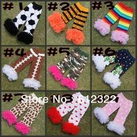 Free shipping Wholesale/promotion baby lace leg warmersfluffy/ legging warmers Christmas kids leg warmers 20pairs/lot
