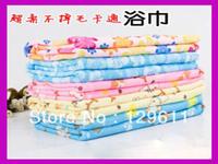 free shipping new 2013  plus size infant bath towel waste-absorbing adult  child cartoon print ultrafine fiber bath towel