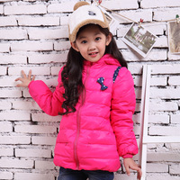 Free shipping 3 4 5 - - - - 6 7 female child down coat medium-long child winter baby outerwear winter children down coat