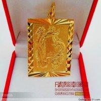 Male gold pendant necklace pendant gold plated pendant male Men phoenix pendant 24k