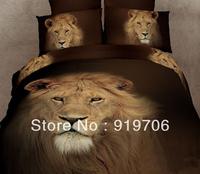 Hot New Beautiful 100% Cotton 4pc Doona Duvet QUILT Cover Set bedding sets Full Queen King size 4pcs animal cool lion leopard