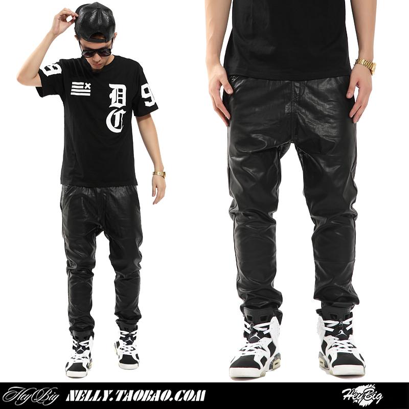 Mens Leather Pants Leather Jogger Pants Men