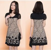 Womens Summer Splice Suit Pattern Slim Loose Dress