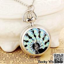 cheap peacock pocket watch