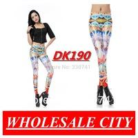 Autumn Fashion Women Leggings With Fairy Beauty Printing Super Elastic  Black Milk Leggings For Fitness Women Wholesale DK190