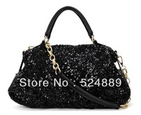 hot sell Sequins Women New Fashion Chain pu Handbag Europe and America OL Shoulder bag Messenger bag 2013 brand designer handbag