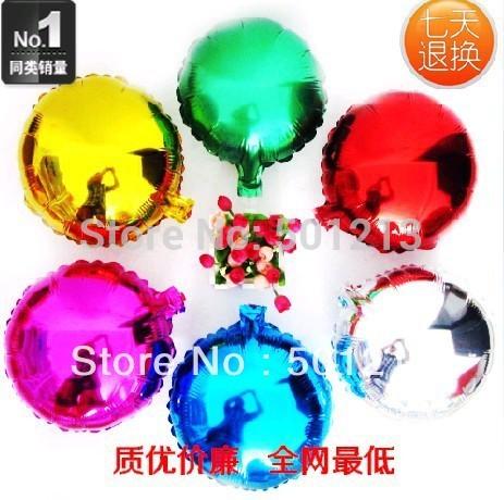 free shipping 18inch round balloon plain foil balloon metallic round mylar balloon for party decoration(China (Mainland))