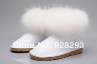 Aunthentic Australia boots 5854 the fox wool boots 100% genuine sheepskin Christmas style snow boots white colour Size US5 - US9