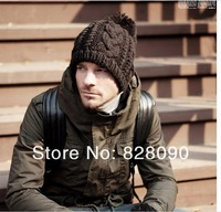 Wholesale  Free Shipping 5pcsllot 2013 NEW men and woman winter hat/men knitted hat Fashion winter warm cap multicolor