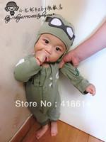 Crayfish pilot baby male child baby crawling clothes 100% cotton bodysuit