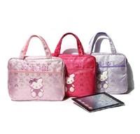 Free shipping, 2013 New arrive Hello kitty embroidery handbag Small bag IPAD bag Women's Laptop bags