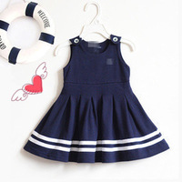 New free shipping children dress/ high quality sleeveless kids dress/party baby girl dress/Wholesale and Retail Honey Baby HB272