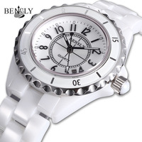 Sapphire crystal The force bensly ceramic watch rhinestone table women's watches quartz watch ladies watch