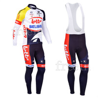 Winter 2013 Lotto1 Thermal/Fleece Long Sleeve Fleece Cycling Jerseys+bib pants(or pants)/Cycling Suit/Cycling Wear/-WL13L21
