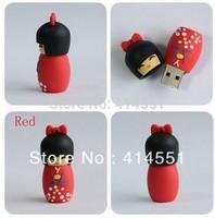 Free shipping 1-32GB Japanese dolls USB Flash Memory Pen Drive Stick