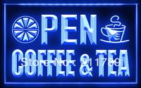 CC003 B OPEN Coffee Tea Cafe Juice LED Light Sign