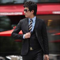 Male groom wear suits slim suit business casual fashion suit piece set 6618
