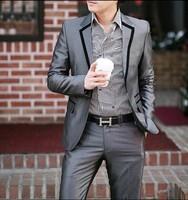 Dansier bridegroom suit slim suit groomed suit slim casual male suits