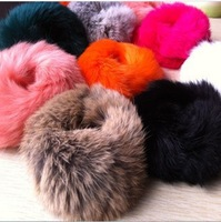 2013 new gifts Hair accessory autumn and winter new arrival rabbit fur plush headband hair rope hair rubber band free shipping