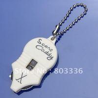 Free Shipping Wholesale 10pcs/Lot Mini Key Chain Two Dial 1 to 99 Golf Score Keeper