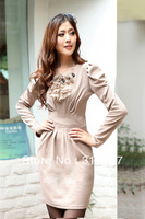 new Korean winter long sleeve dress bottoming women's JT8218