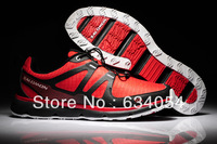 2013 New Arrival Mens Salomon Speedcross3 CS Running Shoes New Color Silver Grey Sport Shoes Salamon Sneakers Size 40~46