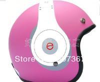 Headphones frosted powder motorcycle helmet BanKui electric helmet brim