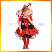 Free shipping!3sizes!children carnival party cosplay ladybug costume girl kids ladybug costume ACE-1019