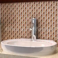 [Mius Art Mosaic] Beveling Edge brownmirror Glass Mosaic Tile mixed ceramic mosaic for Kitchen Backsplash A41802