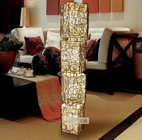 Modern brief floor lamp coffee table rattan bed floor lamp