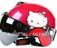Hello Kitty apple peach children electric motorcycle helmet