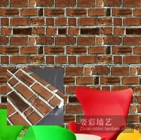 Redbrick flowers wallpaper brick wallpaper p1069 bricklike wall stickers wall covering for walls roll papel de parede