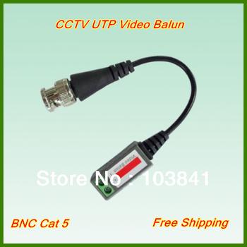 Freeshipping Single Channel CCTV Video Balun passive Transceivers UTP Balun BNC Cat5 CCTV UTP Video Balun up to 3000ft Range