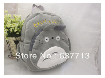 "30pcs/lot 12"" Totoro Plush Backpack Bags, Children School Backpack ,Stuffed Plush Bags,Kids School Bags"
