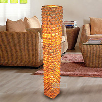 Southeast Asia style bamboo floor lamp rustic brief coffee table lights