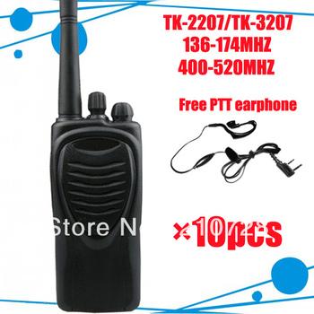 <10pcs/lot DHL freeshipping + UHF 400-520mhz + TK 3207 radio + Free PTT earpiece > TK-3207 walky talk interphone