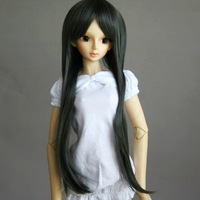 32# Gray Straight Long Wig SD AOD DOD DZ 1/3 BJD Doll Dollfie 8-9""